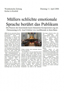 Westdeutsche Zeitung: 11. April 2006
