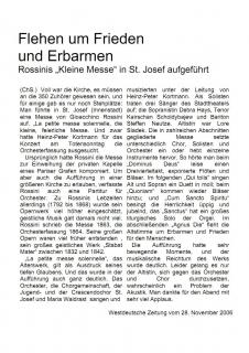Westdeutsche Zeitung: 28. November 2006