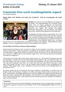 20150119_Presse_WZ_Crescendo_Chor_sucht_musikbegeisterte_Jugend