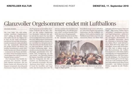 RP: Glanzvoller Orgelsommer endet mit Luftballons