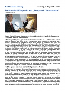 Westdeutsche Zeitung: Last Night 2020