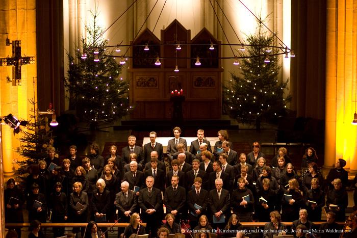 21. Dezember 2008: Kirche St. Josef, Krefeld-Stadtmitte, Weihnachtsoratorium, Crescendo Chor Krefeld