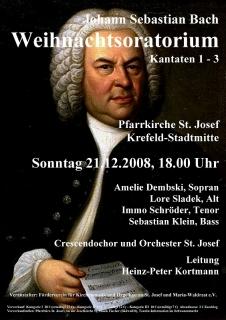 21. Dezember 2008: Johann Sebastian Bach, Weihnachtsoratorium